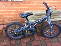 "Boys skylander giants bike 16"". Good condition. Age 4-6"