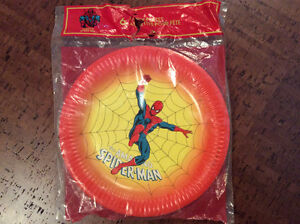1978 Spider-man Party Plates - Sealed Pack of 6