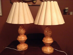 Home made natural wood lamps for sale