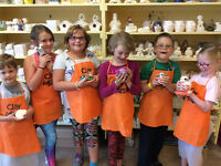 Spring break pottery camps at Clay for Kids