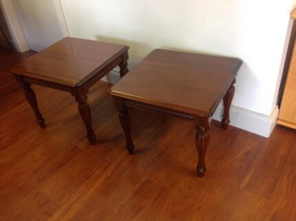 Pair Timber Lamp Tables Melbourne Region Preview