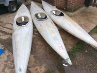 3x Kayak canoes