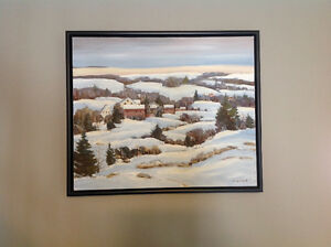 Qu'Appelle Valley Oil Painting
