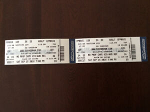 2 Ed Sheeran at Gillette Stdium hard copy tickets