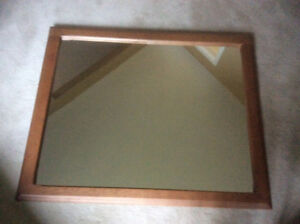 Transitional mirror, solid wood ( maple)