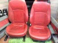 BMW Z4 red leather seats