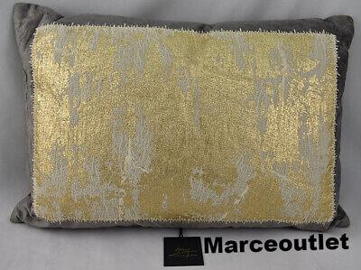 "Michael Aram Distressed Metallic Lace 14"" x 20"" Decorative Pillow Gray"