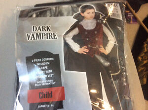 Vampire costume for ages 10 12 13 14