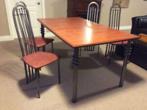 Modern 5'x3' Table and 4 Chairs.   And a Fine Bone China Set of