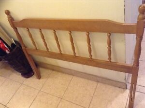 COMPLETE DOUBLE BED FRAME AND HEADBOARD