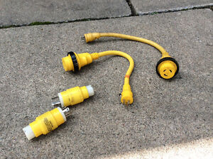 Marinco 30 amp adapters and connectors