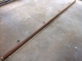 Solid wood stair rail