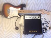Electric guitar, 3/4 size + amp, ideal Christmas present