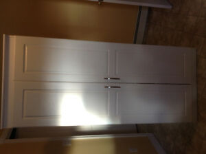 TWO White pantry cupboards ($75.00 each)