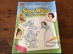 How to Draw Snow White and the Seven Dwarfs Book