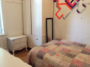 Room in charming Plateau apartment, furnished, all included