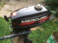 Mercury 3.3hp outboard motor engine for dinghy or tender or boat 2 stroke