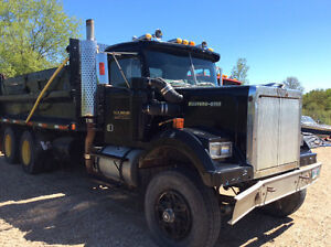 Black Western Star tandem truck