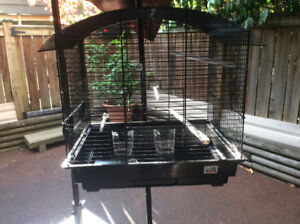 Black bird cage like new condition. Cat proof stand available!
