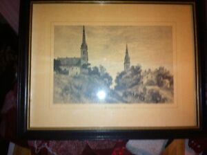 A view of Belleville 1882 etching