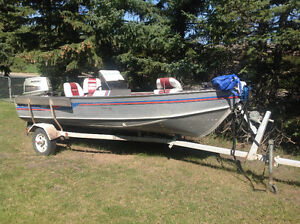 Delta 16ft.Boat, 55HP Suzuki motor, Shorelander Trailer