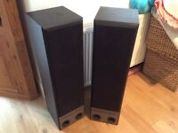 Pair Of concept Eltax speakers, black, 170 watts, dynamic base