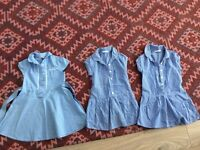 Blue gingham dresses age 2-3