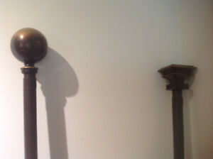 Curtains and Curtain Rods with hardware