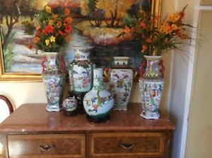 VARIOUS CHINESE VASES
