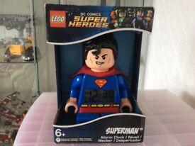 Lego superman alarm clock