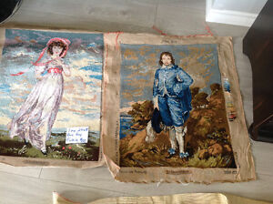 Various tapestry pieces