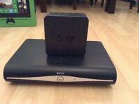 Sky + HD box and sky internet box