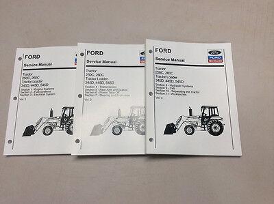Ford New Holland 250c 260c 345d 445d 545d Tractor Loader Service Shop Manual