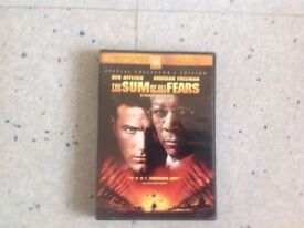 The Sum of All Fears DVD Region 1