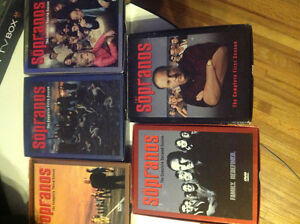 Sopranos seasons 1 to 5 on DVD excellent condition