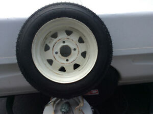 HI-RUN Trailer Tire brand new on rim. Rim is used but in great