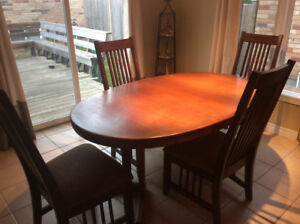 Solid Teak Dining Table Chairs