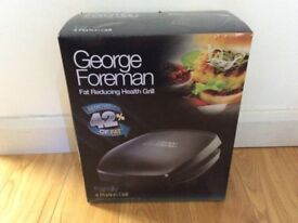 4 Portion Family George Foreman Grill Used once