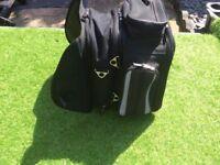 Magnetic motorcycle tank luggage/rucksack.