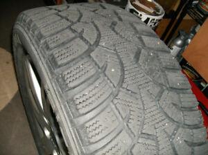 4 pneus d'hiver avec mags 205/55 r16,  600 $