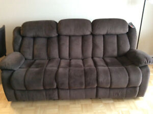 Brown material Couch