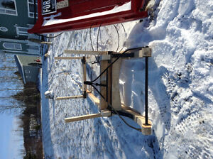 Bob sled and tailrack.     Reduced for quick sale