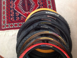 "9x26"" MTB tyres used all foldable good treads"