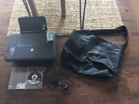 HP printer scanner with accessories and bag