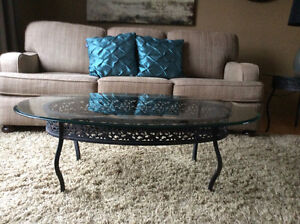 Oval Coffee table and matching round side table