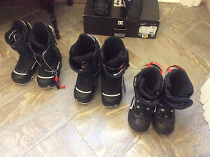Youth Snowboard boots. Sizes 4, 6 and 7