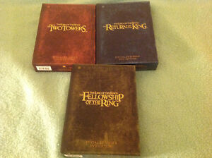 All 3 Lord of the Rings extrended edition box sets