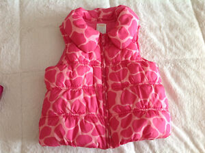 One time worn Gymboree girl vest very warm size 5-6 years