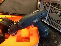 Cordless drill 9.6 volts, picture frames light work