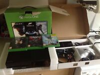 Xbox one with 3 games